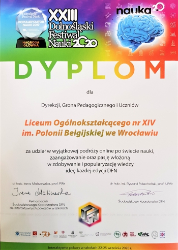 XIV LO - DFN dyplom