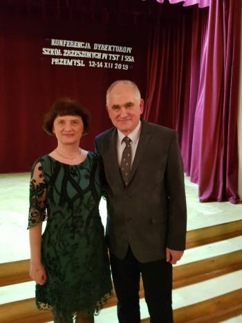 Dyrektor Anna Maćkowska i Dyrektor Marek Łaźniak na konferencji TST