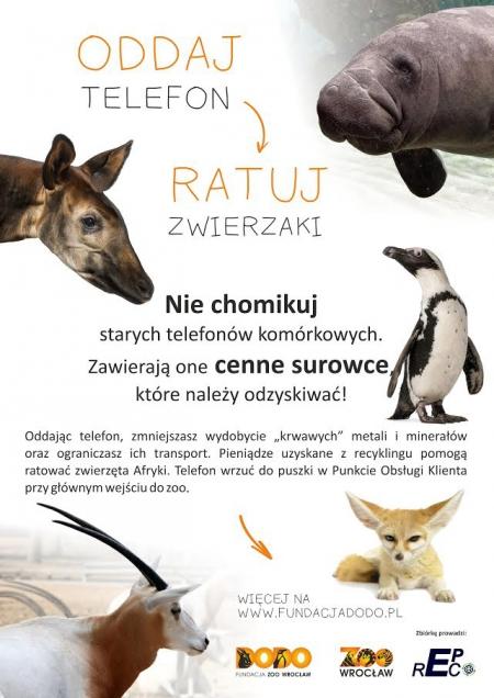 Oddaj komórkę - ratuj zwierzaki