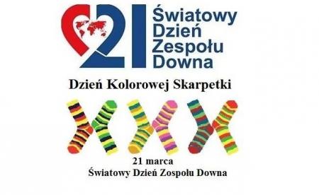 21 marca - Światowy Dzień Zespołu Downa-Dzień Kolorowej Skarpetki