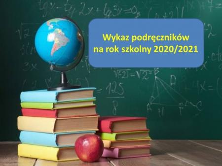 Szkolny zestaw podręczników na rok szkolny 2020/2021