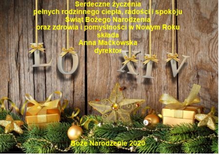 Życzenia dyrektor Anny Maćkowskiej